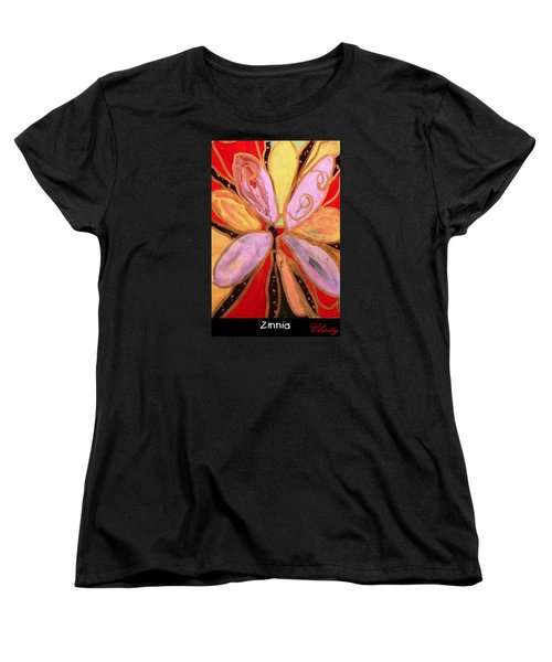 Zinnia Women's T-Shirt (Standard Cut) by Clarity Artists