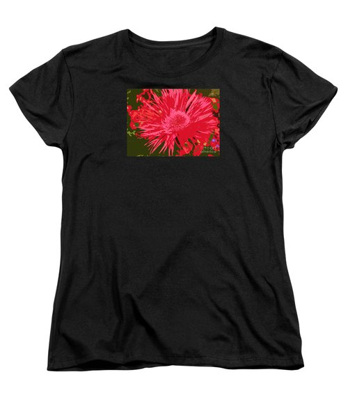 Women's T-Shirt (Standard Cut) featuring the photograph Zinnia Party by Jeanette French