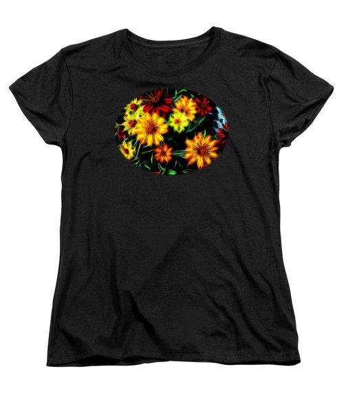 Zinnias With Zest Women's T-Shirt (Standard Cut) by Nick Kloepping