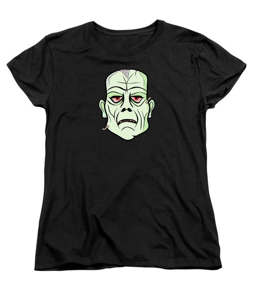 Zombie Head Women's T-Shirt (Standard Cut) by Martin Capek