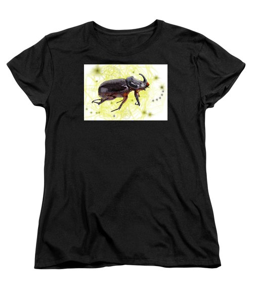 X Is For Xylotrupes Ulysses  Aka Rhinoceros Beetle Women's T-Shirt (Standard Fit)