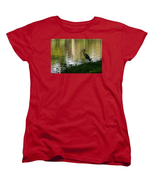 Women's T-Shirt (Standard Cut) featuring the photograph Contemplating Impressionist Paintings by Georgia Mizuleva
