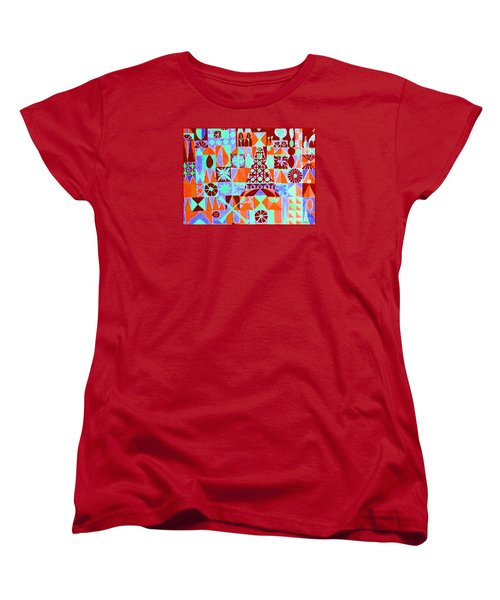 Women's T-Shirt (Standard Cut) featuring the painting  Fortress by Beth Saffer