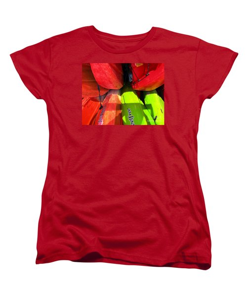 Kayaks Women's T-Shirt (Standard Cut) by Michelle Meenawong