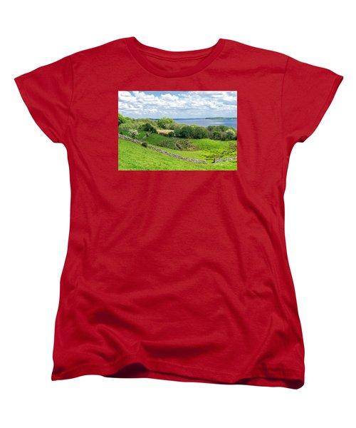 Women's T-Shirt (Standard Cut) featuring the photograph  Loch Coirib by Juergen Klust
