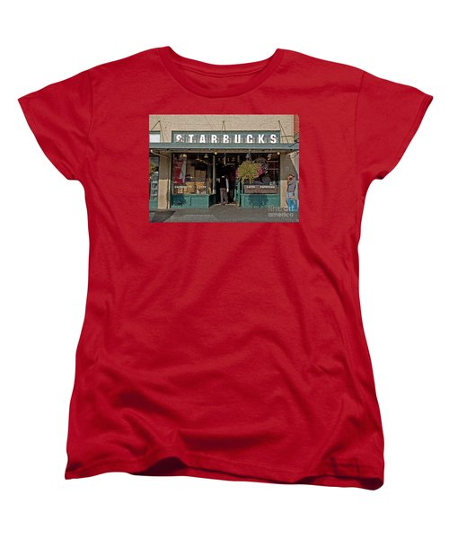 0370 First Starbucks Women's T-Shirt (Standard Cut) by Steve Sturgill