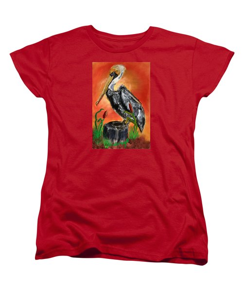 082914 Pelican Louisiana Pride Women's T-Shirt (Standard Cut) by Garland Oldham