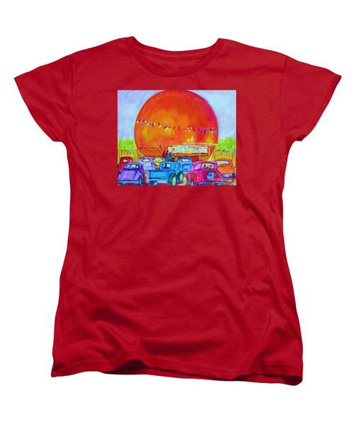 Women's T-Shirt (Standard Cut) featuring the painting Antique Cars At The Julep by Carole Spandau