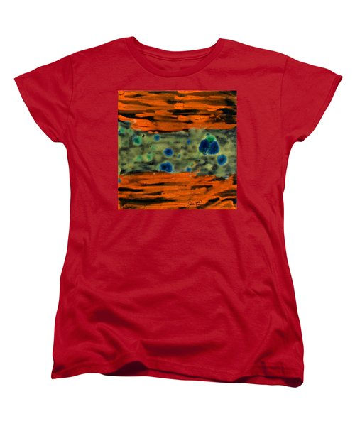 Women's T-Shirt (Standard Cut) featuring the painting Autumn Breeze by Joan Reese
