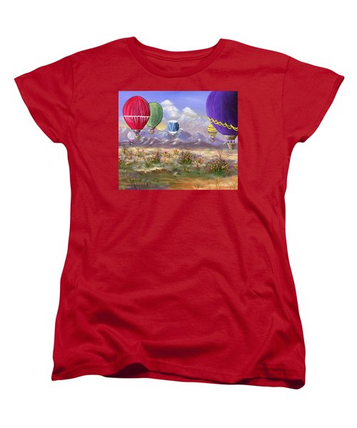 Women's T-Shirt (Standard Cut) featuring the painting Balloons by Jamie Frier