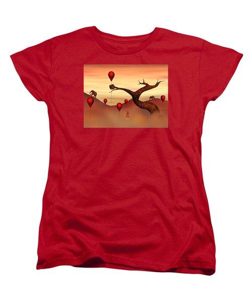 Women's T-Shirt (Standard Cut) featuring the digital art Believe What You See by Gabiw Art
