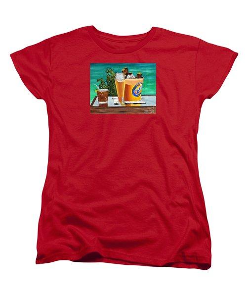 Caribbean Beer Women's T-Shirt (Standard Cut) by Laura Forde