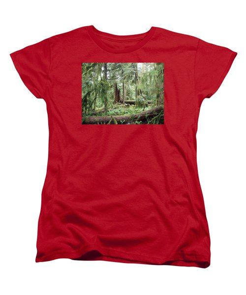 Women's T-Shirt (Standard Cut) featuring the photograph Cathedral Grove by Marilyn Wilson