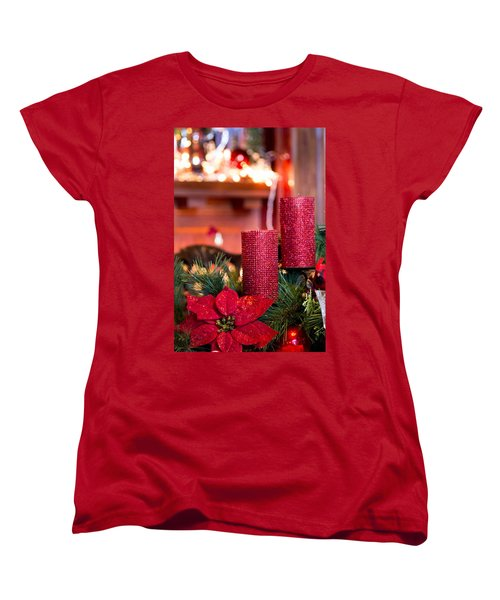 Women's T-Shirt (Standard Cut) featuring the photograph Christmas Candles by Patricia Babbitt