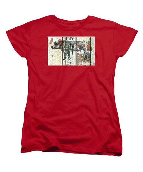 Danish Duroc Boar Women's T-Shirt (Standard Cut) by Larry Campbell