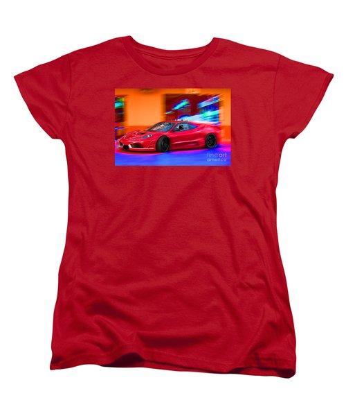Women's T-Shirt (Standard Cut) featuring the photograph Ferrari by Gunter Nezhoda
