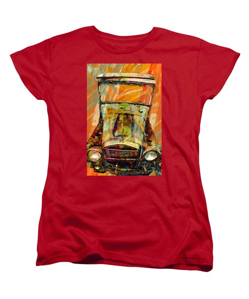 Vintage Car Women's T-Shirt (Standard Cut) featuring the photograph Ghost Of 1929 by Aaron Berg
