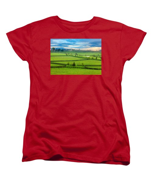 Horse Country Women's T-Shirt (Standard Cut) by Alexey Stiop