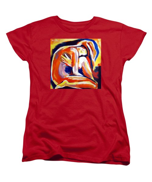 Women's T-Shirt (Standard Cut) featuring the painting Innerthoughts by Helena Wierzbicki