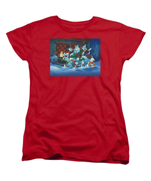 Women's T-Shirt (Standard Cut) featuring the painting Joy To The World by Michael Humphries