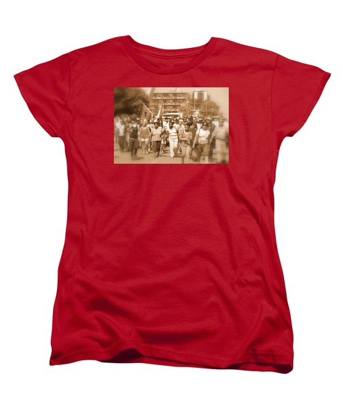 Labor Day Parade Women's T-Shirt (Standard Cut) by Valentino Visentini