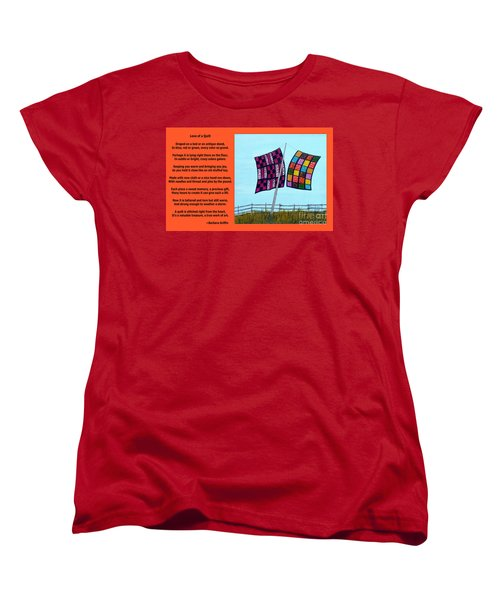 Love Of A Quilt  Women's T-Shirt (Standard Cut) by Barbara Griffin
