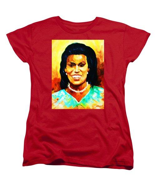 Michelle Obama Women's T-Shirt (Standard Cut) by Al Brown