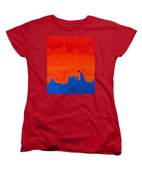 Monument Valley Original Painting Women's T-Shirt (Standard Cut) by Sol Luckman