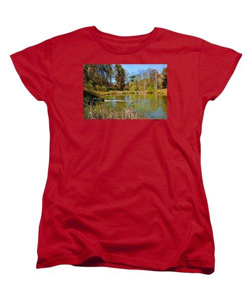 Peaceful Place Women's T-Shirt (Standard Cut) by Kristin Elmquist