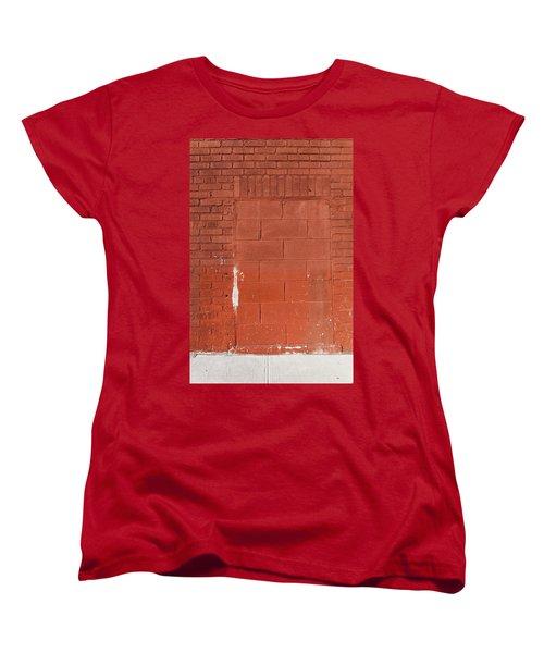 Red Wall With Immured Door Women's T-Shirt (Standard Cut)