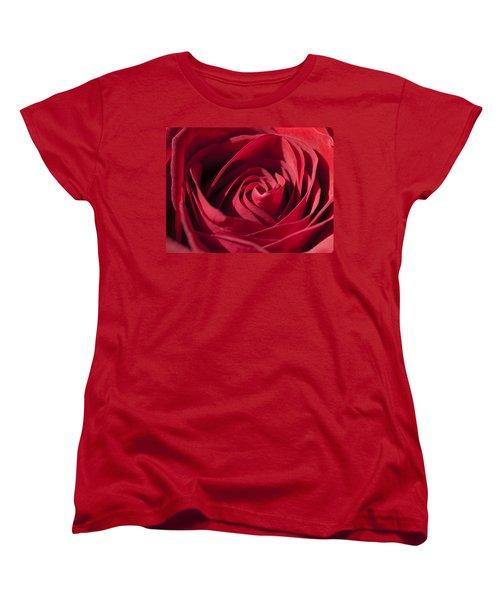 Rose Red Women's T-Shirt (Standard Cut) by Tara Lynn