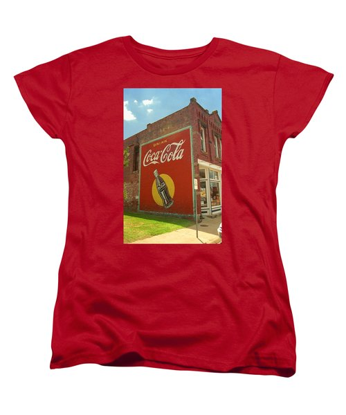 Route 66 - Coca Cola Ghost Mural Women's T-Shirt (Standard Cut)