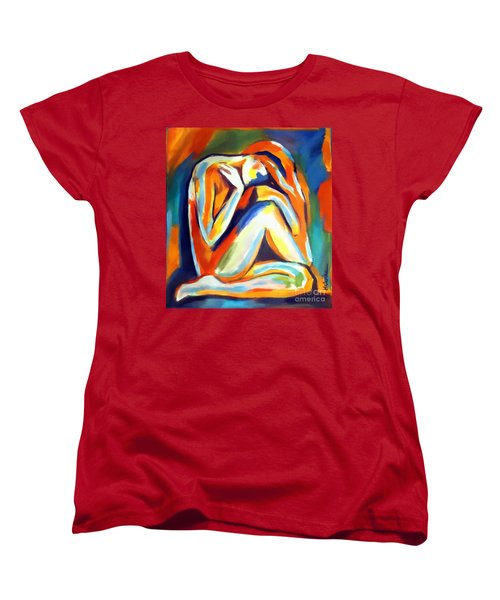 Women's T-Shirt (Standard Cut) featuring the painting Solitude by Helena Wierzbicki