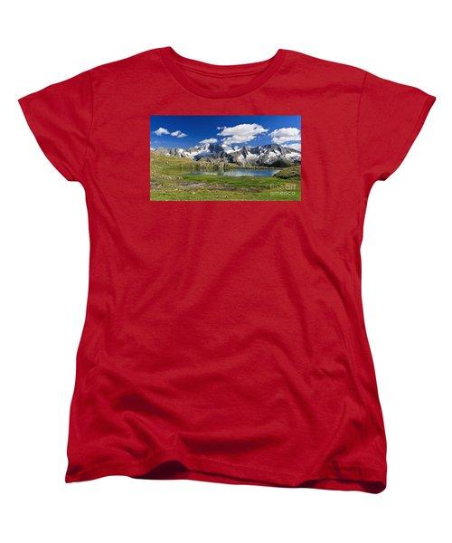 Women's T-Shirt (Standard Cut) featuring the photograph Strino Lake - Italy by Antonio Scarpi