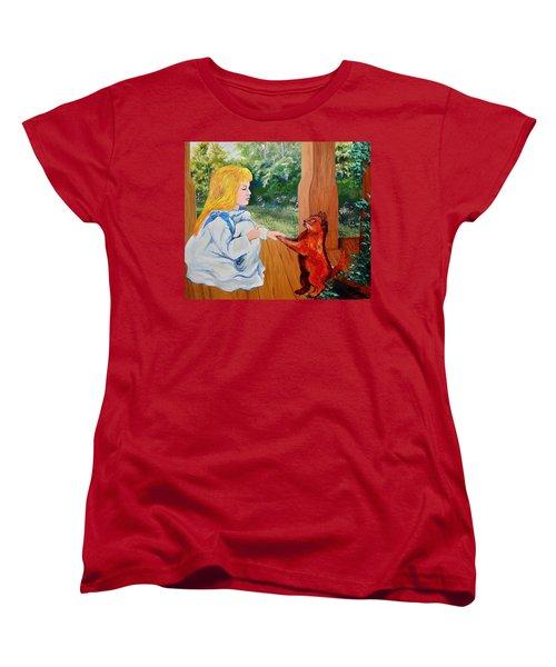 The Dance Lesson Women's T-Shirt (Standard Cut) by Karon Melillo DeVega