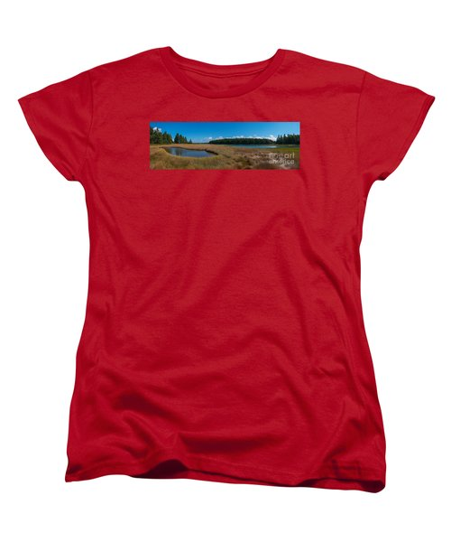 Thompson Island In Maine Panorama Women's T-Shirt (Standard Cut)