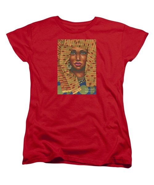 Women's T-Shirt (Standard Cut) featuring the painting Headwrap by Alga Washington