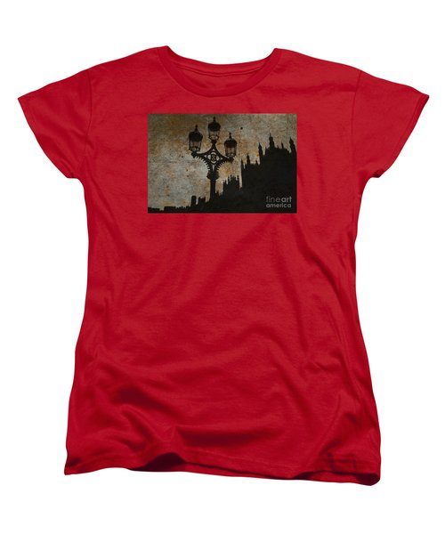 Women's T-Shirt (Standard Cut) featuring the digital art Westminster Silhouette by Matt Malloy