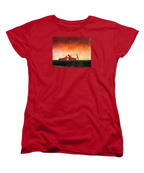 Women's T-Shirt (Standard Cut) featuring the painting Wired Down by William Renzulli