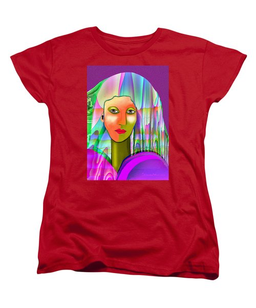 1079 - Mysterious  Lady With A Veil 2017 Women's T-Shirt (Standard Cut) by Irmgard Schoendorf Welch