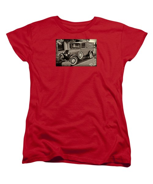 1930 Ford Panel Truck Women's T-Shirt (Standard Cut) by Richard Farrington