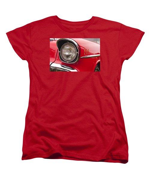 1957 Chevrolet Bel Air Headlight Women's T-Shirt (Standard Cut) by Glenn Gordon