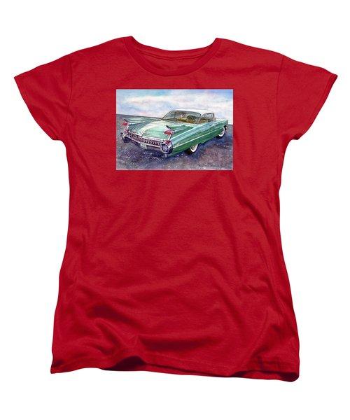 1959 Cadillac Cruising Women's T-Shirt (Standard Cut) by Anna Ruzsan