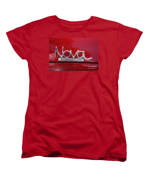 1970 Chevy Nova Logo Women's T-Shirt (Standard Cut) by John Telfer