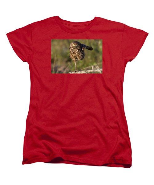 Burrowing Owl Photograph Women's T-Shirt (Standard Cut) by Meg Rousher