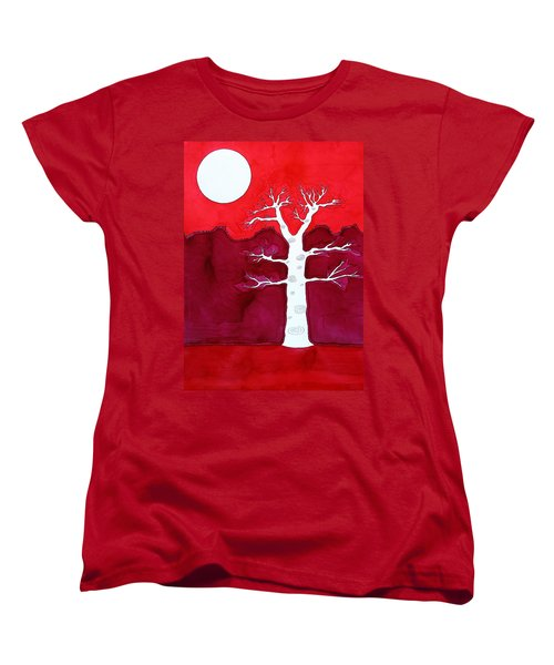 Canyon Tree Original Painting Women's T-Shirt (Standard Cut) by Sol Luckman