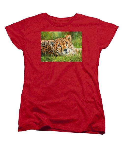 Cheetah Women's T-Shirt (Standard Cut) by David Stribbling