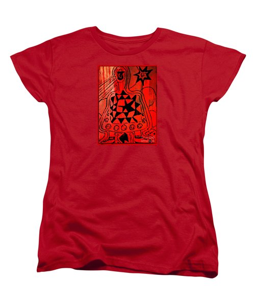 Women's T-Shirt (Standard Cut) featuring the drawing Cute Gismo by Leanne Seymour