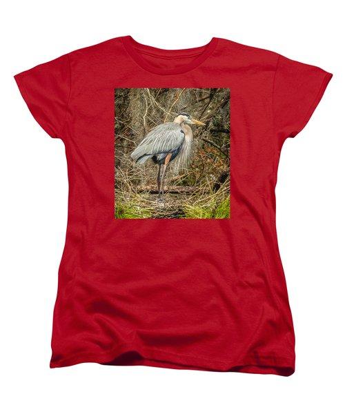 Great Blue Heron Women's T-Shirt (Standard Cut) by Jane Luxton