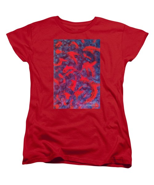 Women's T-Shirt (Standard Cut) featuring the painting koi by Jacqueline McReynolds